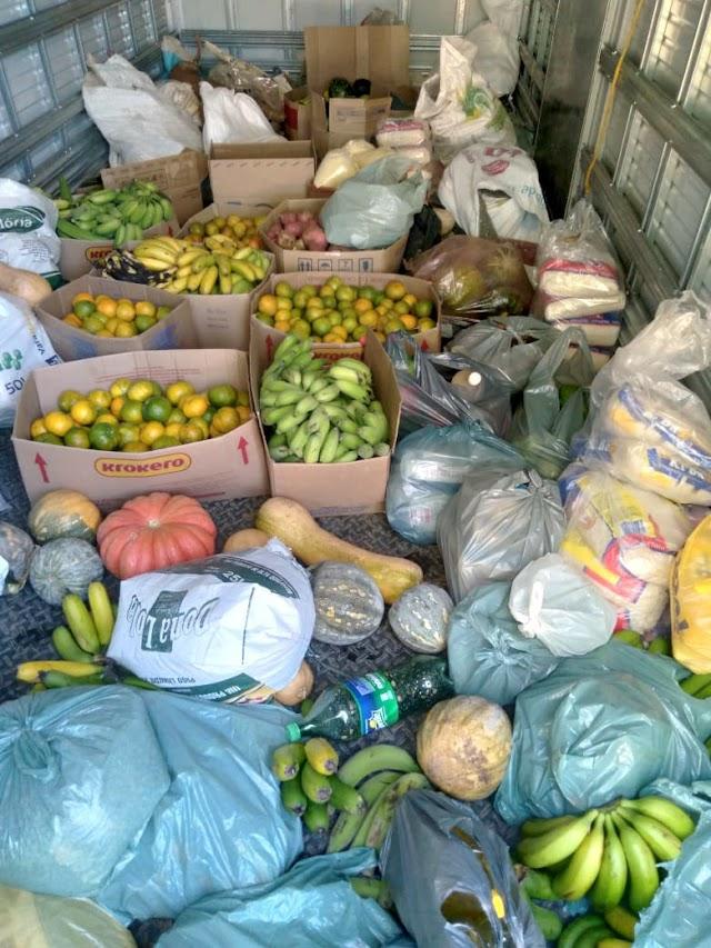 Campanha arrecada mais de uma tonelada de alimentos para famílias necessitadas em Divino