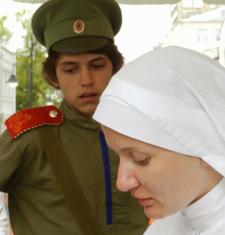 nurses and soldiers of the pre-USSR Russia