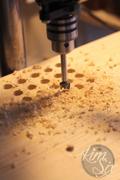 Drilling multiple holes in board