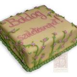 23. kép: Ünnepi torták - Futóvirágos születésnapi torta