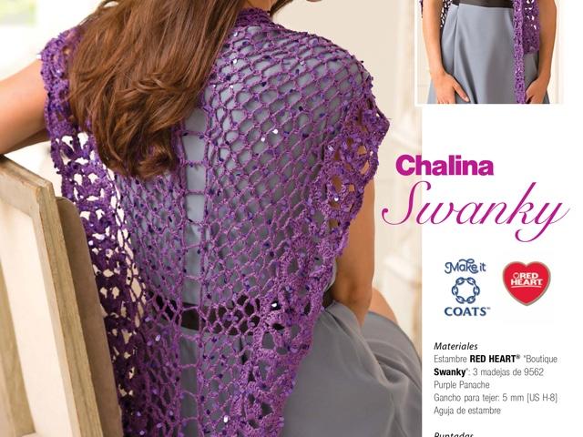 Chalinas tejidas para vestidos de noche