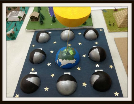 maquetas de las fases de la luna7