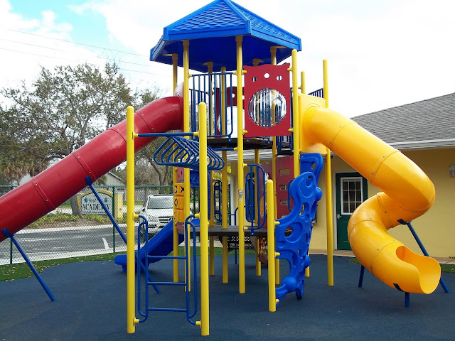 Colorful Playground with Varying Playground Elevations- Korkat.com