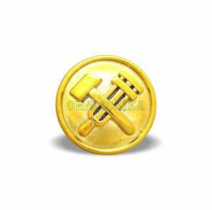 Гудзик Залізниця  великий 22 мм золотий