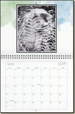 Eva Lynd 2019 calendar - June Eva
