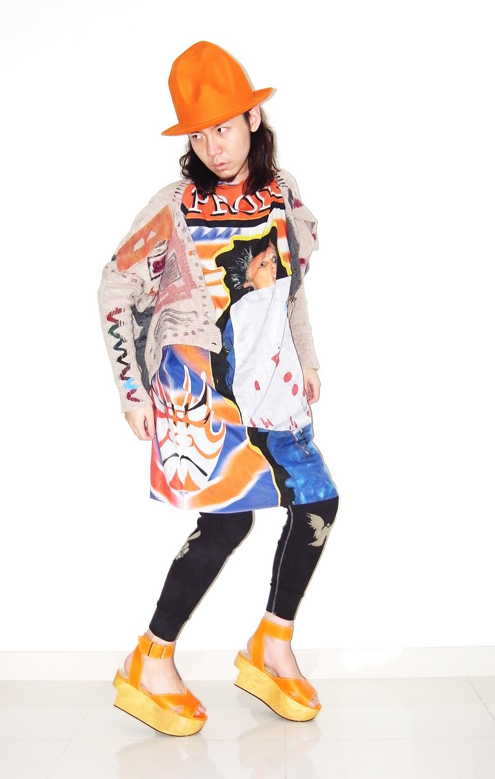 3b71f7f2c0a1 Orange Vivienne Westwood Rocking Horse Slave Shoes. Mountain Hat - World s  End Vivienne Westwood. Black Top - Sadak. Prodigy Top - Vava Dudu.