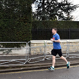 OIC - ENTSIMAGES.COM - loneliness of a long distance runner  at the  Virgin Money London Marathon on Blackheath in London, England. 24th April 2016 Photo Mobis Photos/OIC 0203 174 1069