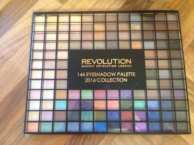 Makeup revolution 144 eyeshadow palette review