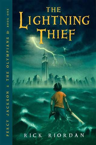 The Lightning Thief (Percy Jackson and the Olympians, Book #1), By Rick Riordan Cover Art