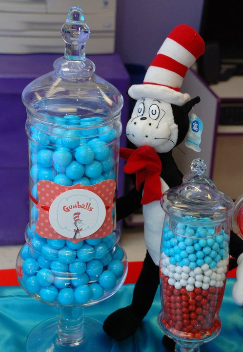 Cat In The Hat Birthday Party Ideas Drelons 1st Birthday Belly