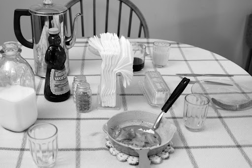 Breakfast table. Photography by Lisa Weatherbee