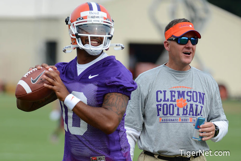 Fall Practice - Day 1 Part 2 Photos - 2012, Chad Morris, Football, Practice, Tajh Boyd