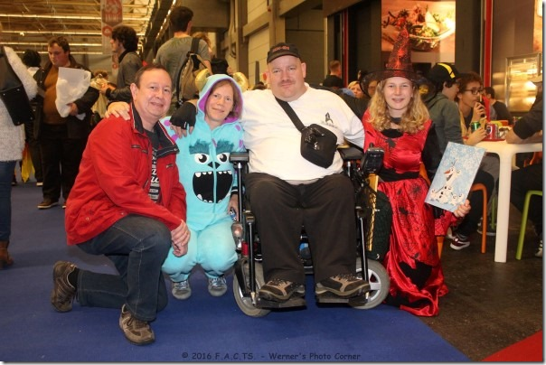 Van rechts naar links: Annelies, Werner, Miche en ik