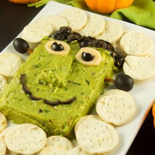 Frankenstein Cheese Avocado Dip.