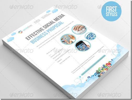 Presupuesto o propuesta para empresa de Social Media, diseño de alta calidad, formato Word e InDesign