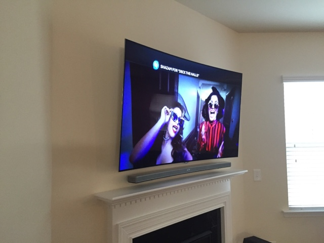 Tv Wall Mounting Charlotte Nc Curved 4k Ultra Hd