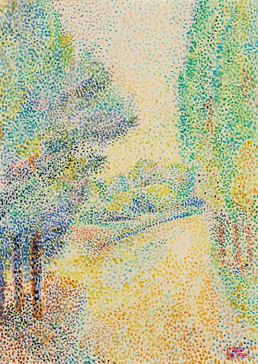 Hippolyte Petitjean - Paysage au jardin