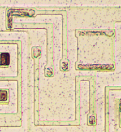 Resistors inside the 3101 chip.