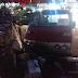 Mobil Tanpa Sopir Tabrak Motor dan Dagangan Didepan Pendopo Sukabumi
