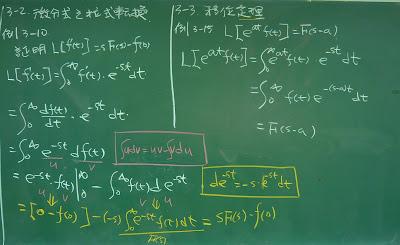 微分式的拉式轉換以及移位定理