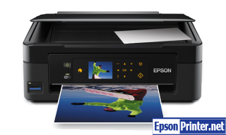 How to reset flashing lights for Epson XP-403 printer