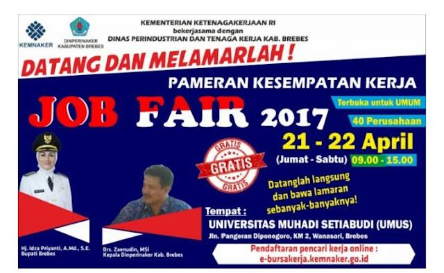 Jobfair Brebes April 2017 Membuka Ribuan Lowongan Kerja Baru