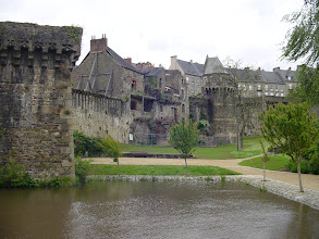 Photo: Some of the buildings at the castle edge.