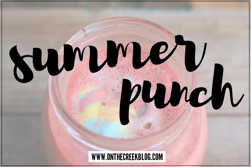 Summer Punch // a refreshing summer drink with Superman Ice Cream
