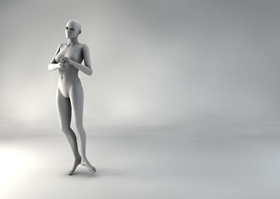 femme 3D pose naturelle BH 07