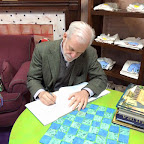 The great Chris Van Allsburg signs some books!