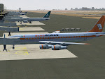 Aero Mexico DC-8 at MMMX gate