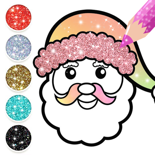 Baixar Christmas Coloring Book Glitter For Kids para Android