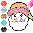 Christmas Coloring Book Glitter For Kids icon