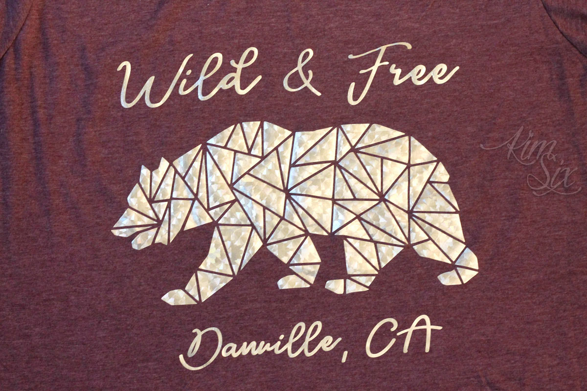 Wild and Free Bear Silhouette on Tee