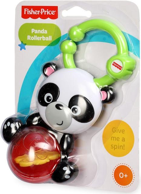 Xúc xắc - Lục lạc gấu trúc Panda Rollerball Fisher-Price tuyệt đối an toàn
