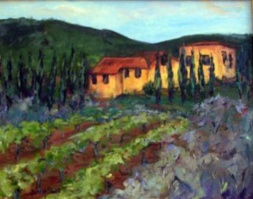 """Near the Town of Gaoile"" by Artist Diana Saffo Bono. 11x14."