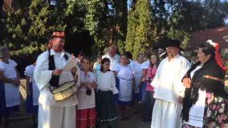 Szüreti felvonulás Jákó 2015 - Kisbíró a Faluház udvarán video