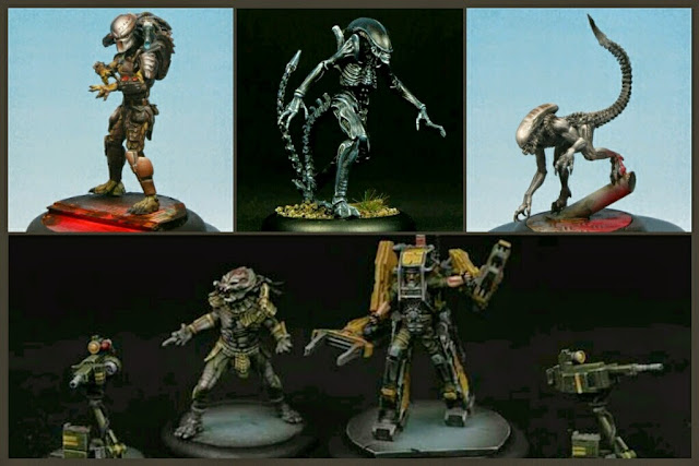 Predators, Aliens y Marines de Protos Games