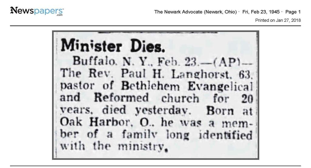 [Langhorst_RevPaul_death+notice_TheNewarkAdv_23+Feb+1945_pg+1%5B12%5D]