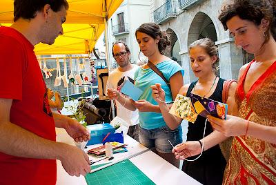 participants taller llibretes reciclades
