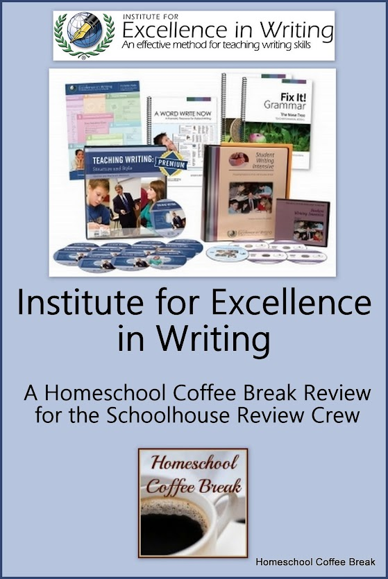 Institute for Excellence in Writing, A Schoolhouse Crew Review on Homeschool Coffee Break @ kympossibleblog.blogspot.com