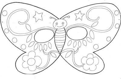 mariposa mascara de animales  para colorar (5)_thumb