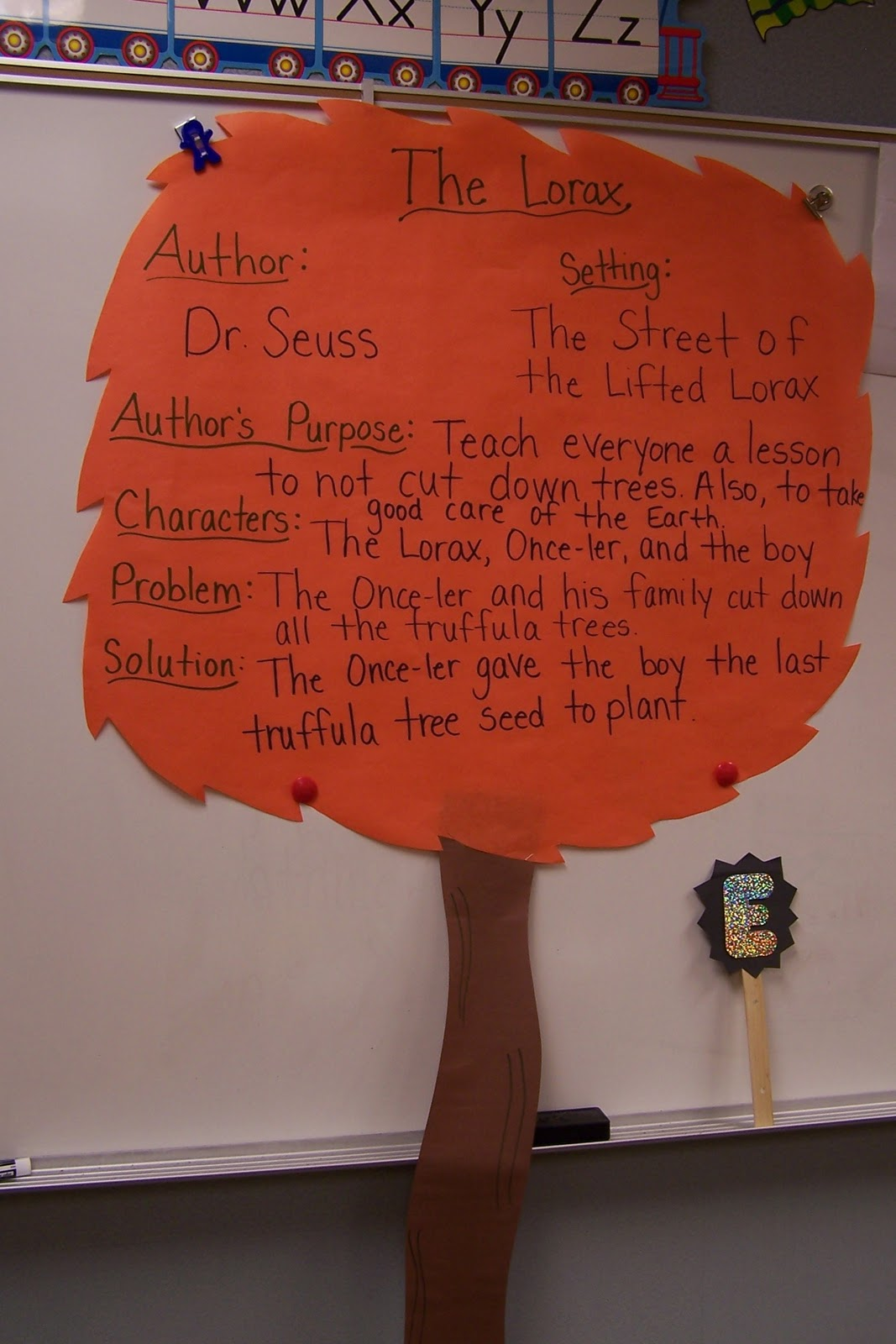 worksheet The Lorax Questions Worksheet the lorax fun in first after reading we filled out this chart together