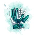 Goalkeeper Gloves Football Gloves White Background Vector Illustration Free Download Vector CDR, AI, EPS and PNG Formats