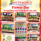 Flower Day activity-Playgroup section, Wittyworld (15-16)