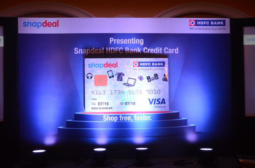 SnapDeal HDFC Bank Credit Card Lanuch - 2