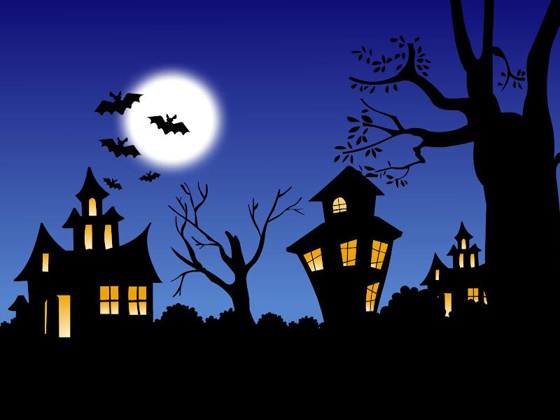 Bats And Moon, Halloween