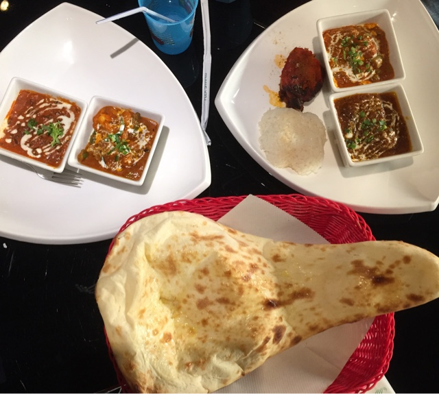 Curries and naan
