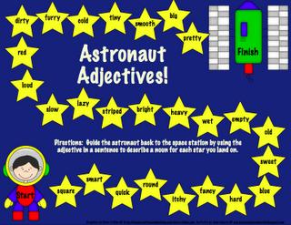 Galaxy Grammar Astronaut Adjectives
