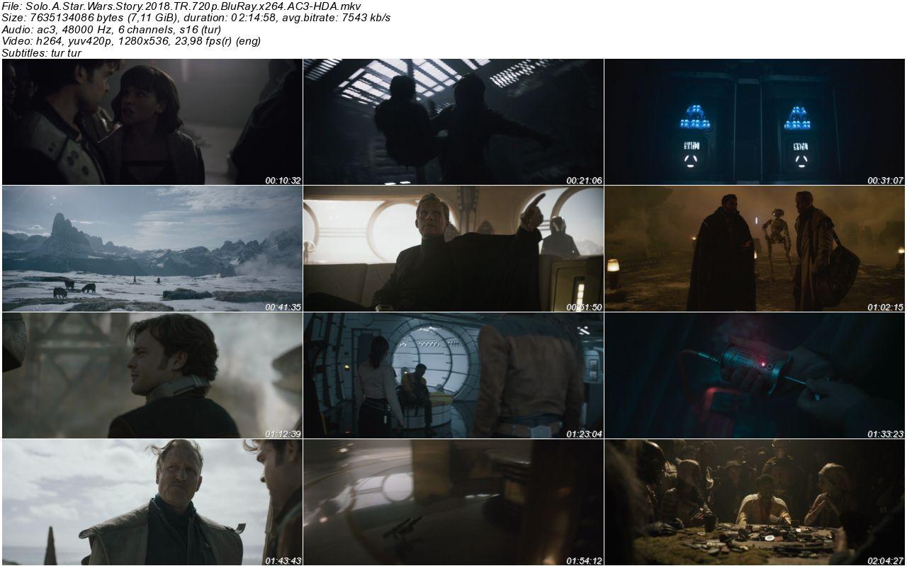 Han Solo Bir Star Wars Hikayesi 2018 - 1080p 720p 480p - Türkçe Dublaj Tek Link indir